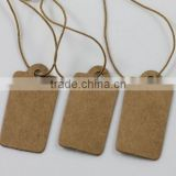 30MM Blank Kraft Paper With Elastic String Jewelry Price Label Hang Tag (M-HT145)                                                                         Quality Choice
