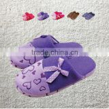 2014 women's winter slippers sweet heart Love cartoon butterfly slippers home flats indoor floor cotton padded shoes