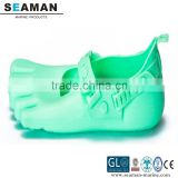 100% silicone unisex s38-48 size colorful five fingers heat protection beach shoes footwear