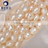 fresh water natural pearl white baroque nugget pearl strands 10-11mm for making jewelry wholesale