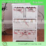 Factory wholesale Vintage wood drawer cabinet/wicker basket drawers wooden cabinet                                                                         Quality Choice