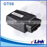 Vehicle gsm gps tracker data logger with OBD 2 connector, OBD II port, OBDII interface