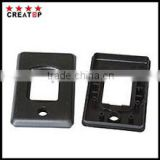black injection insulation plastic rectangular cover of auto whit hole