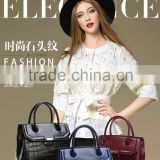 The factory mainly engaged in various types of casual fashion hand bags messeng bags leather bags shoulder bag
