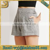 Wholesale custom linen cotton summer sexy booty women shorts