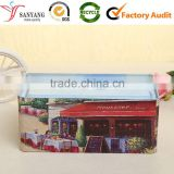 Factory Direct Sale Rectangular Tin Tissue Box Color Printing Metal Tissue Packaging Box