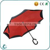 2016 hot sell C handle inverted car use umbrella