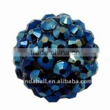 Resin Basketball Wives Earring Crystal Ball Beads(RESI-A003-2)