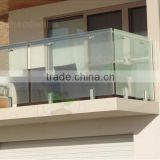 core drill spigot glass railing for balcony or pool frameless glass balustrade glass railing
