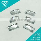 KD1 baguette 7*21 7*26 8*14 flat back sew on acrylic rhinestones for fashion decoration, craft making, garment bags accessories