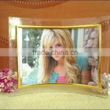 Factory Price Souvenir Bend Glass Photo Frame/Beautiful Gift Curved Glass Photo Frame                                                                         Quality Choice
