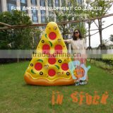 High quality food pizza design pool float inflatable donut for fun