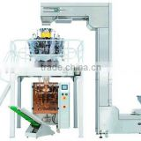 Automatic granule food sugar, rice, potato chips, salt weighing and packaging system with VFFS vertical packing machine