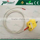 Topright Fiber Glass/Stainless Steel Braid k type thermocouple wire for high temperature