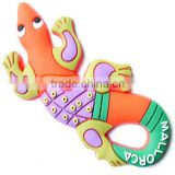 Gecko monopole magnet customized design rubber fridge magnet for business promotion arts crafts home decoration