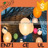 beautiful wedding inflatable LED balloon decorations/ inflatable led ball for sale made in china