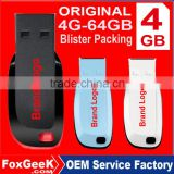 Original Brand Cruzer Blade 4GB USB Flash Drive 64GB 8GB 16GB 32GB Real Capacity with Blister Packing Wholesale