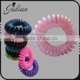 Fashion Telephone Candy Color Elastic Hair Bands Bracelet Ponytail Holder Winter Christmas Scrunchies For Girl FHHTA0020-1