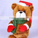 Battery operated singing and dancing stuffed plush toy christmas break dancer Bear
