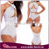 YH7078 New arrival and top quality high waist black dot swimsuit bandage sexy bikini sets beachwear women sexy summer swimwear
