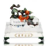 RORO Blessed Events persimmon enamel crystal glass decorative article for home decoration/gift