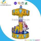 2016 Modern kids carousel ride machine,3 players horse/car carousel ride for amusement park