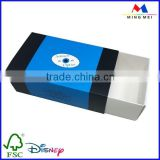 350gsm white card sliding paper drawer box with custom logo