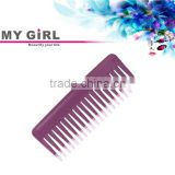 MY GIRL 2016 new fashion hot sale women wine red&pink two color tips plastic hair wide tooth comb