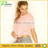 Custom design loose fit bamboo yoga clothing for women garment factory