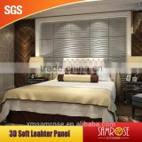 Fashion wall flats leather bed headboard Embossed leather panel (Nail river)