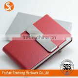 Foldable rectangle PU leather business name card holder with embossing or debossing logo