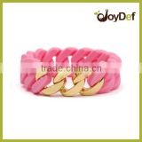 promotional Baby Pink Gold silicon bracelet