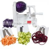 Tri Blade Vegetable Spiral Slicer with 100% Lifetime Guarantee, Veggie Pasta Spaghetti Noodle Maker and Peeler