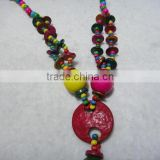 Hainan province natural coconut shell crafts necklace traditional special fashion jewelry cocoa nut husk wholesale