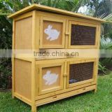 Rabbit Guinea Pig Hutch Cage DOUBLE Storey 2 Levels Quality Fir Wood Metal Tray