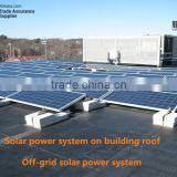 CE ISO UL Approved off-grid solar power system on building roof for commercial residential