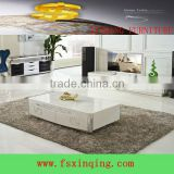hot selling modern design wood coffee table glass top C334