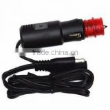 Euro big power car charger 12v to 24V 300W car charger for automobile and motorcycle with SAE connecter pig tails