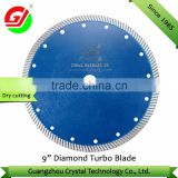 "Hot selling high quality 9"" 230mm diamond turbo saw blade for granite/ diamond blade for granite/diamond tool manufacturer"