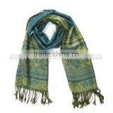 Eco-Friendly Styliest With High Quality Lady Wool Woven Printed Scarf