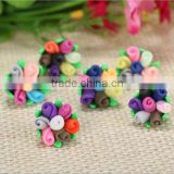 Fashion Handmade new design summer Colorful Polymer Clay Flower Beads for Chunky little girl Necklace Jewelry
