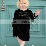 2017 Children frocks designs baby gilrs autumn and winter nelex handmade lace long dress