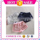 new colors boutique wholesale little baby girls shiny sequin tight shorts