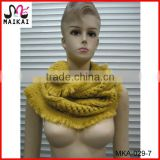 Winter hot fashion 100% acrylic infinity cable knitting chunky scarf