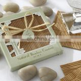 Natural Eco-Friendly Bamboo Coaster wedding table decoration Favors