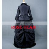 Rose Team-Free Shipping Custom-made Medieval Victorian Gown Ball Costume Dark Blue Gothic Punk Dress