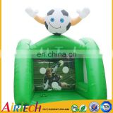 Hot popular portable inflatable football games commercial indoor soccer field for sale