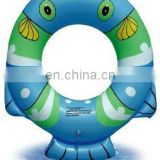 Hot sale life PVC inflatable fish shape ring for kids