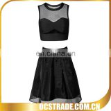 2015 New arrival two piece set sexy celebrity bandage dress and skirts