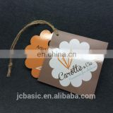 custom china black recycled clothing paper hang tag with sealed string